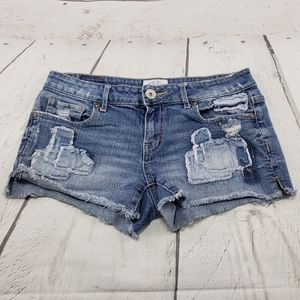 Aeropostale Shorts Size 3 /4 Women Blue Denim Jean